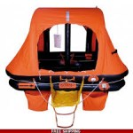 4 water self-righting rafts 4 people container, ref LR 11204